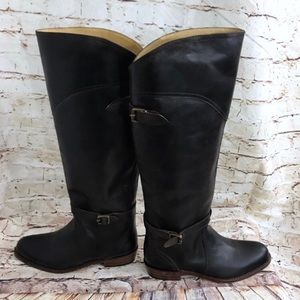 Frye Chocolate Brown Leather Knee Boots